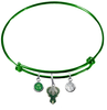 Milwaukee Bucks GREEN Color Edition Expandable Wire Bangle Charm Bracelet