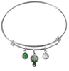 Milwaukee Bucks NBA Expandable Wire Bangle Charm Bracelet