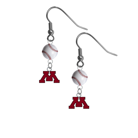 Minnesota Gophers NCAA Baseball Dangle Earrings
