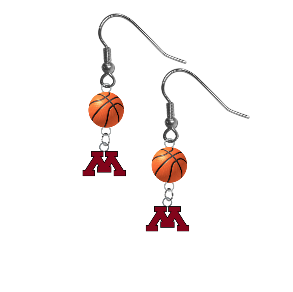 Minnesota Gophers NCAA Basketball Dangle Earrings