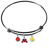 Minnesota Gophers BLACK Color Edition Expandable Wire Bangle Charm Bracelet