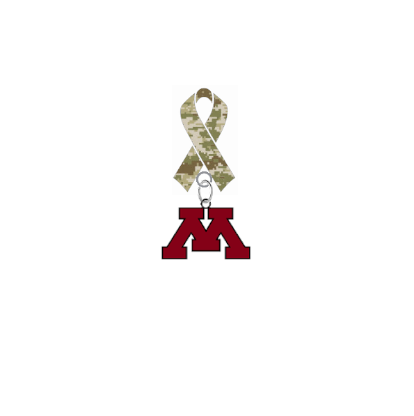 Minnesota Gophers Salute to Service Military Appreciation Camo Ribbon Lapel Pin