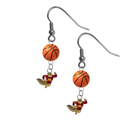 Minnesota Gophers Mascot NCAA Basketball Dangle Earrings