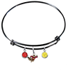 Minnesota Gophers Mascot BLACK Color Edition Expandable Wire Bangle Charm Bracelet