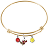 Minnesota Gophers Mascot GOLD Color Edition Expandable Wire Bangle Charm Bracelet