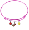 Minnesota Gophers Mascot PINK Color Edition Expandable Wire Bangle Charm Bracelet