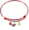 Minnesota Gophers Mascot RED Color Edition Expandable Wire Bangle Charm Bracelet