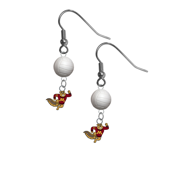 Minnesota Gophers Mascot NCAA Volleyball Dangle Earrings