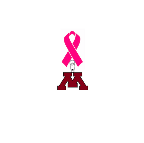 Minnesota Gophers Breast Cancer Awareness / Mothers Day Pink Ribbon Lapel Pin