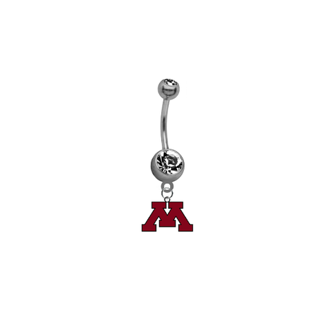 Minnesota Golden Gophers NCAA College Belly Button Navel Ring
