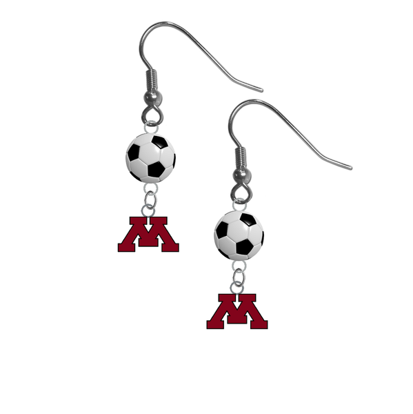 Minnesota Gophers NCAA Soccer Dangle Earrings