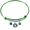 Minnesota Timberwolves GREEN Color Edition Expandable Wire Bangle Charm Bracelet
