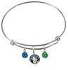 Minnesota Timberwolves NBA Expandable Wire Bangle Charm Bracelet