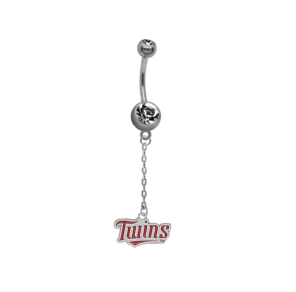 Minnesota Twins Dangle Chain Belly Button Navel Ring