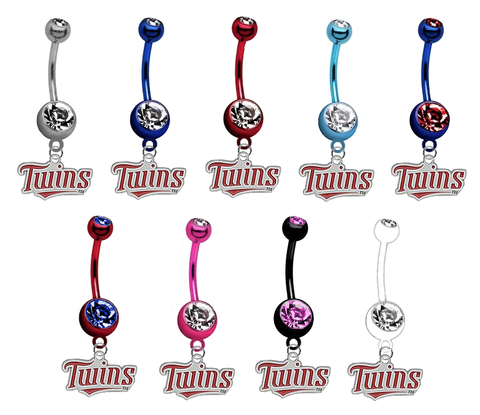 Minnesota Twins MLB Baseball Belly Button Navel Ring - Pick Your Color