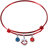 Minnesota Twins Style 2 Red MLB Expandable Wire Bangle Charm Bracelet
