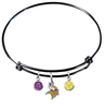Minnesota Vikings Black NFL Expandable Wire Bangle Charm Bracelet
