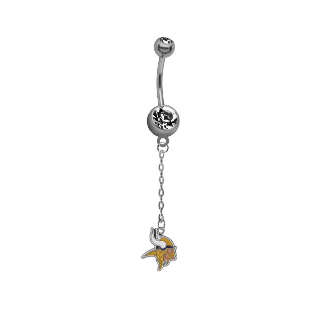 Minnesota Vikings Chain NFL Football Belly Button Navel Ring
