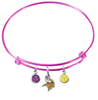 Minnesota Vikings Pink NFL Expandable Wire Bangle Charm Bracelet
