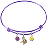 Minnesota Vikings Purple NFL Expandable Wire Bangle Charm Bracelet