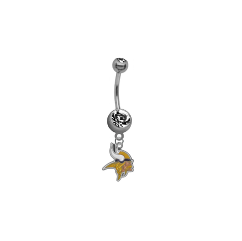 Minnesota Vikings NFL Football Belly Button Navel Ring