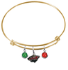 Minnesota Wild Color Edition GOLD Expandable Wire Bangle Charm Bracelet