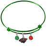 Minnesota Wild Color Edition GREEN Expandable Wire Bangle Charm Bracelet