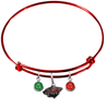 Minnesota Wild Color Edition RED Expandable Wire Bangle Charm Bracelet