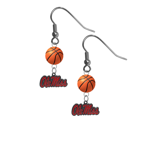 Mississippi Rebels NCAA Basketball Dangle Earrings