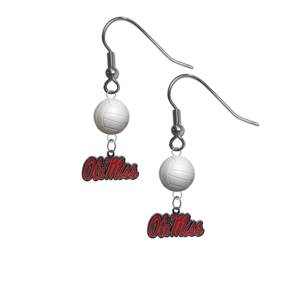 Mississippi Rebels NCAA Volleyball Dangle Earrings