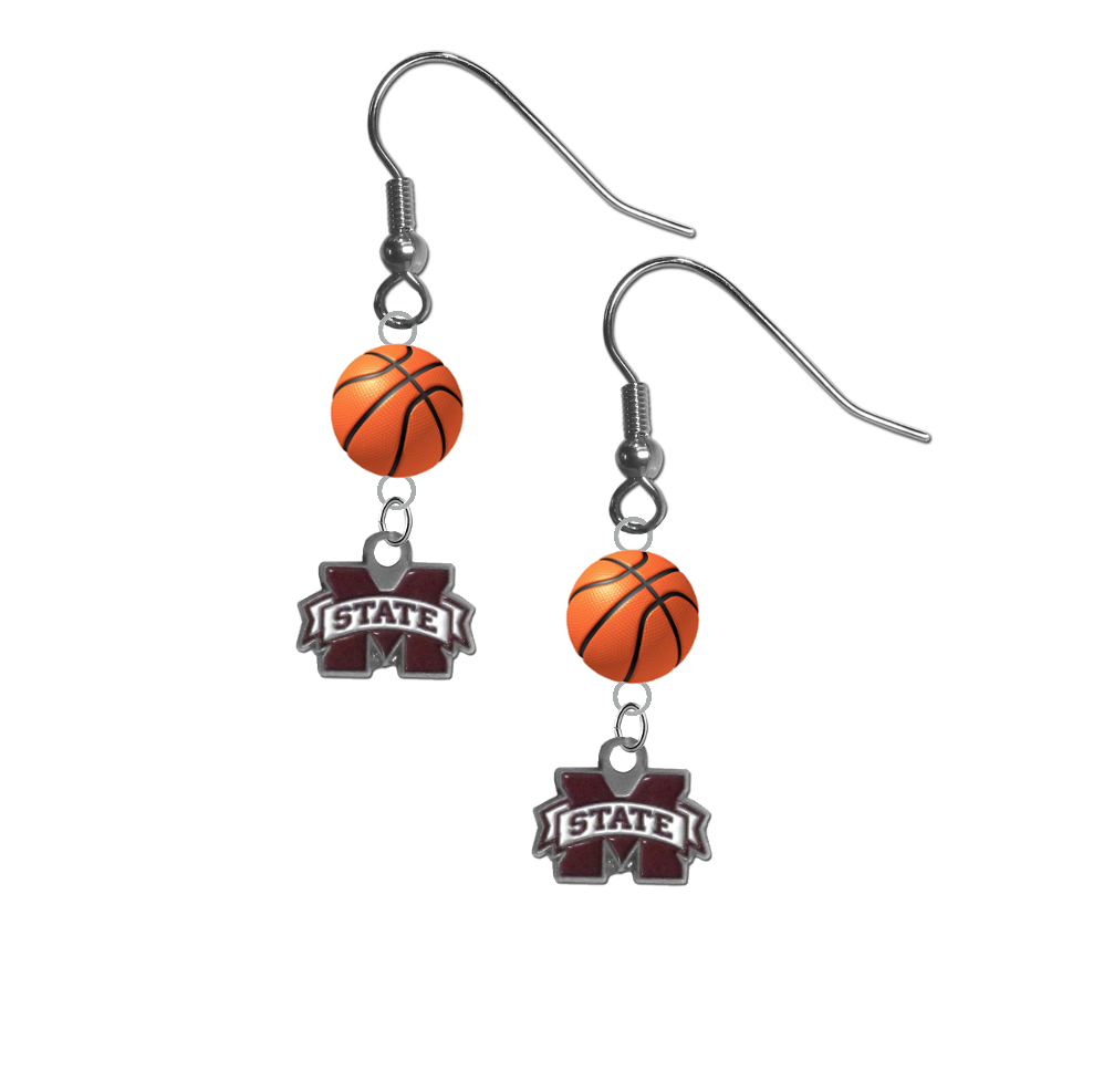 Mississippi State Bulldogs NCAA Basketball Dangle Earrings