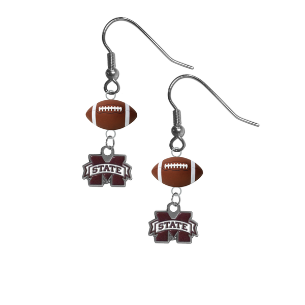 Mississippi State Bulldogs NCAA Football Dangle Earrings