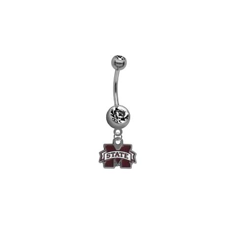 Mississippi State Bulldogs NCAA College Belly Button Navel Ring