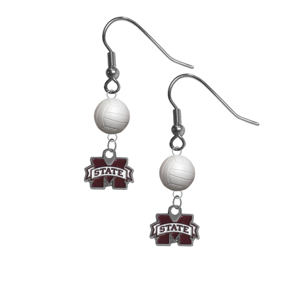 Mississippi State Bulldogs NCAA Volleyball Dangle Earrings