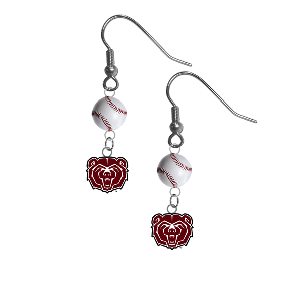 Missouri State Bears NCAA Baseball Dangle Earrings