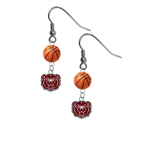 Missouri State Bears NCAA Basketball Dangle Earrings