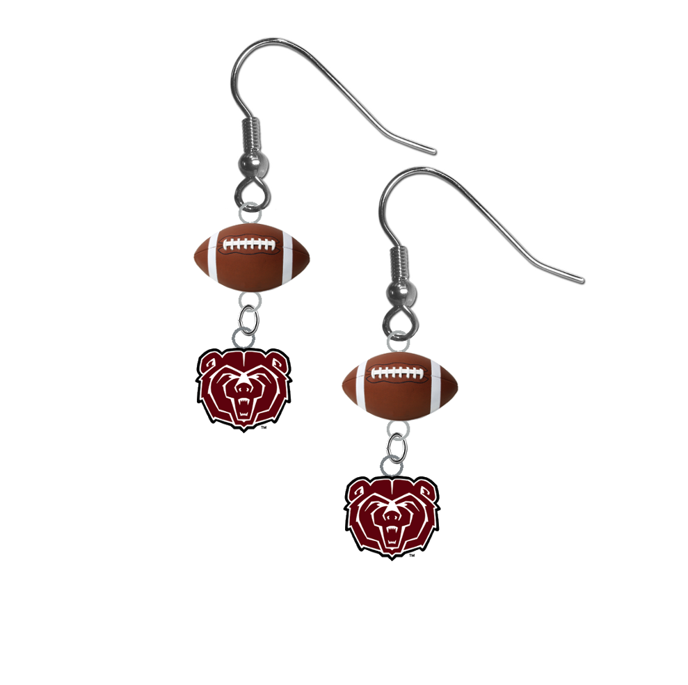 Missouri State Bears NCAA Football Dangle Earrings