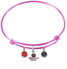 Missouri State Bears PINK Color Edition Expandable Wire Bangle Charm Bracelet