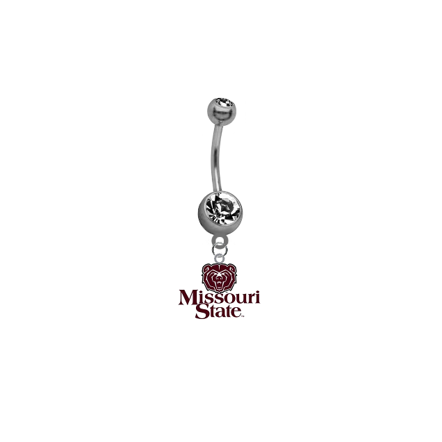 Missouri State Bears NCAA College Belly Button Navel Ring