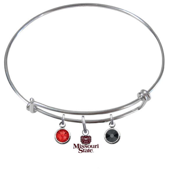 Missouri State Bears NCAA Expandable Wire Bangle Charm Bracelet