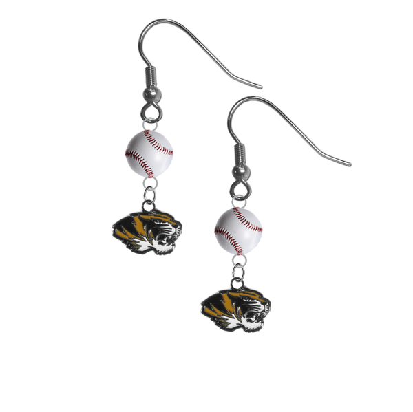 Missouri Tigers NCAA Baseball Earrings