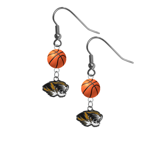 Missouri Tigers NCAA Basketball Dangle Earrings