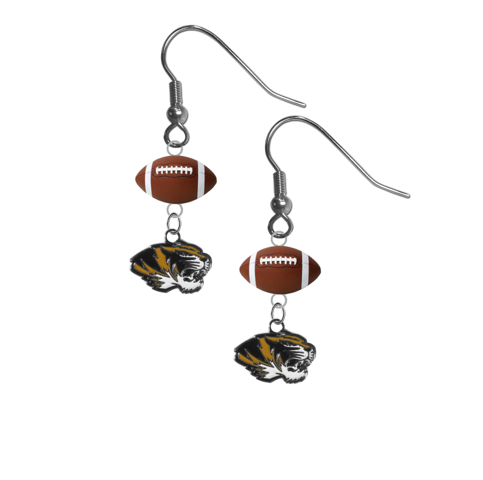 Missouri Tigers NCAA Football Dangle Earrings