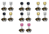 Missouri Tigers NCAA Swarovski Crystal Stud Rhinestone Earrings