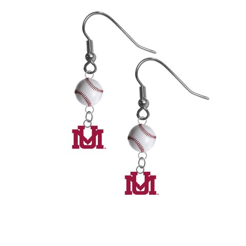 Montana Grizzlies NCAA Baseball Dangle Earrings