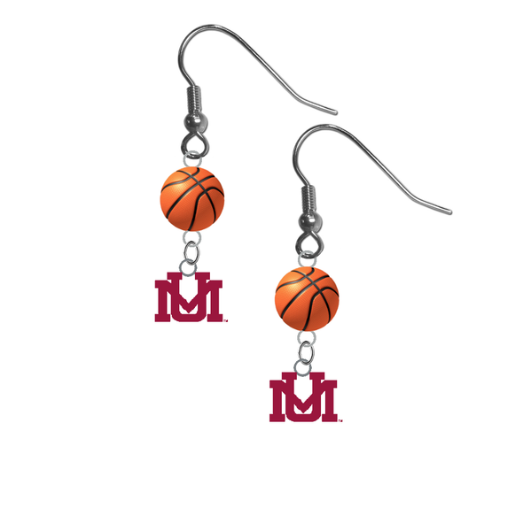 Montana Grizzlies NCAA Basketball Dangle Earrings