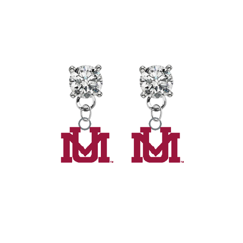 Montana Grizzlies CLEAR Swarovski Crystal Stud Rhinestone Earrings