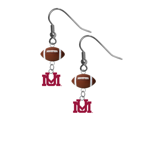 Montana Grizzlies NCAA Football Dangle Earrings