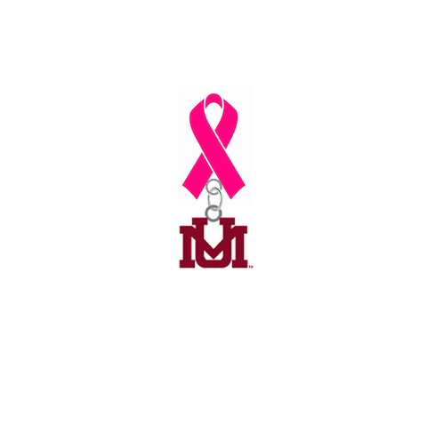Montana Grizzlies Breast Cancer Awareness / Mothers Day Pink Ribbon Lapel Pin