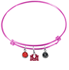 Montana Grizzlies PINK Color Edition Expandable Wire Bangle Charm Bracelet